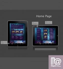 iPad App Mockup