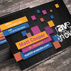 Pixel Block Themed Business Cards