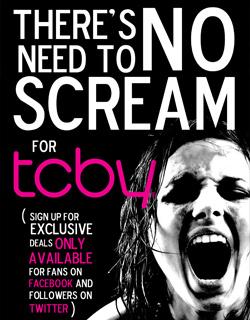 TCBY Horror Postcard