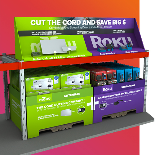 Retail POP Design: Sam's Club Cord Cutting Display