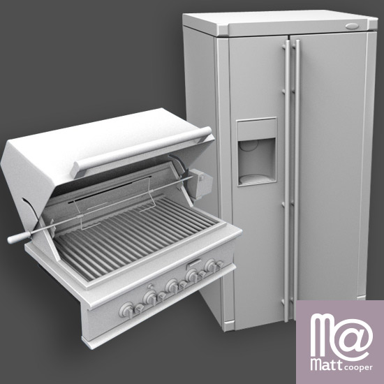 GE Appliance Architectural 3D Models