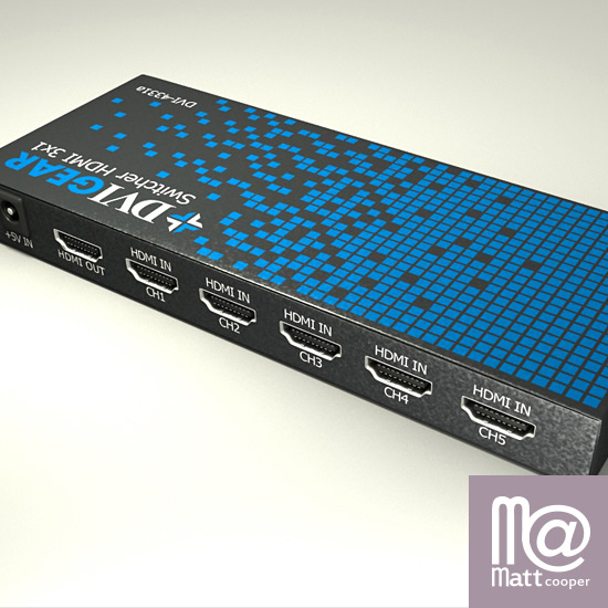 Product 3D Render: DVIGear Switcher