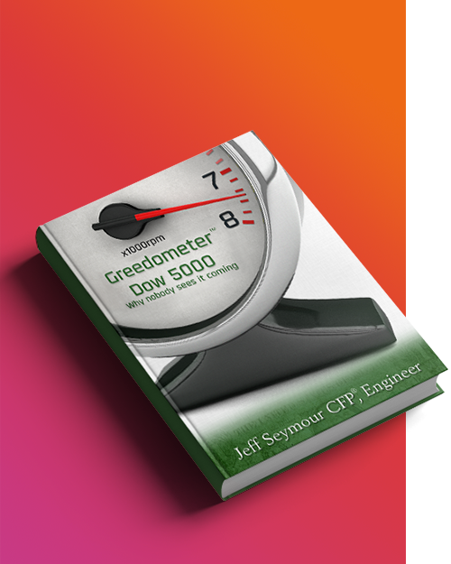 3D Illustration: Greedometer Book Cover